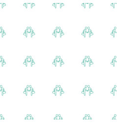 businessman shaking hands icon pattern seamless vector image