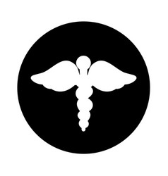 Caduceus symbol isolated icon vector