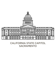 california state capitol is home to the government vector image