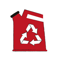 Canister recyclable recycling related icon image vector