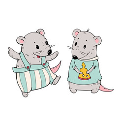 cartoon mice vector image