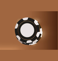 Casino background chips top view of black and vector