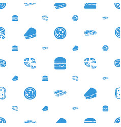 cheese icons pattern seamless white background vector image
