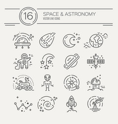 cosmos icons vector image