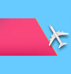 Creative of plane isolated on vector