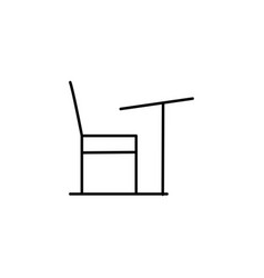 desk chair icon vector image