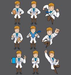 Doctor caucasian set vector