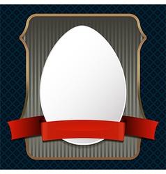 easster egg on retro background vector image