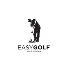 easy golf vector image