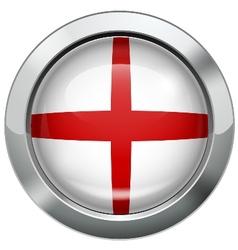 England flag metal button vector image