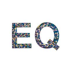 Eq hand drawn sign emotional vector