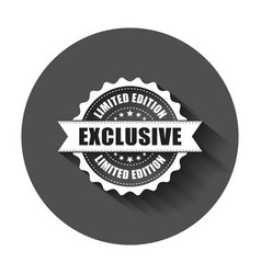 exclusive grunge rubber stamp with long shadow vector image