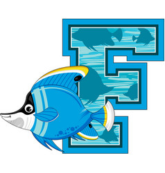 F is for fish vector