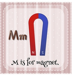 Flashcard of M is for magnet vector