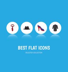 flat icon clothes set of uniform panama cravat vector image