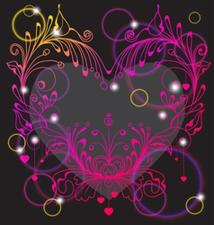 FLORAL Valentines heart vector image