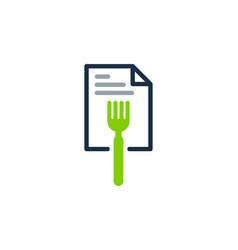 fork document logo icon design vector image