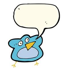 funny cartoon robin with speech bubble vector image