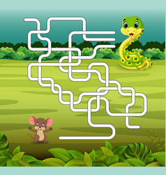 game template with snake and mouse vector image