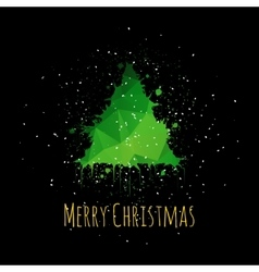 Grunge Christmas Greeting Card vector image vector image
