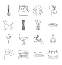 History art animal and other web icon in outline vector