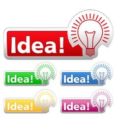 Idea Stickers vector image
