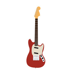 isolated electric guitar vector image