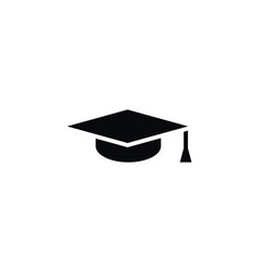 Isolated graduation cap icon mortar board vector
