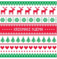 krismasi njema greeting card vector image