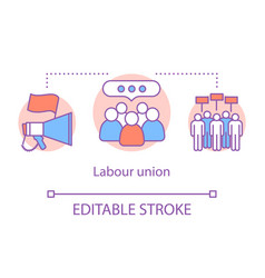Labour union concept icon employee rights vector