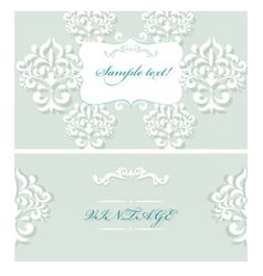 Lace Invitation Cards set vector