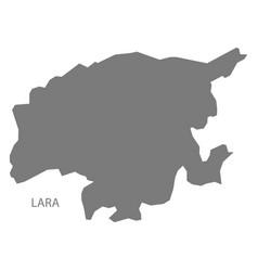 Lara venezuela map grey vector
