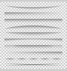 lines shadow paper divider tabs web lines break vector image