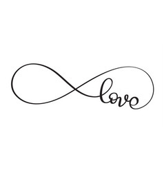 Love word in the sign of infinity vector