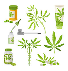 Marijuana or cannabis volume set medical vector