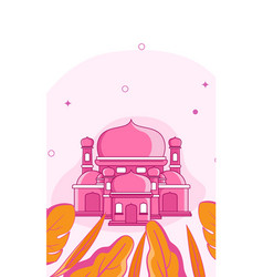mosque-2 vector image