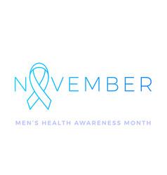movember men health man prostate cancer november vector image