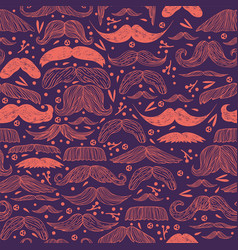 mustache seamless pattern for vector image