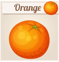 Orange fruit Cartoon Icon vector image