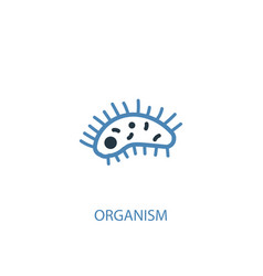 organism concept 2 colored icon simple blue vector image