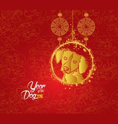 oriental chinese new year lantern pattern vector image