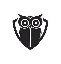 owl bird logo vector image