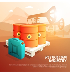 Petroleum Oil Industry Facilities Isometric Poster vector