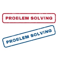Problem Solving Rubber Stamps vector