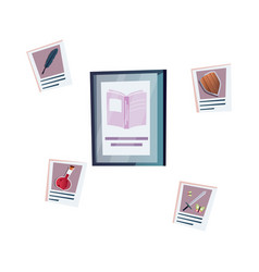Publishing house icon vector