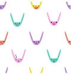 Rabbit emoticons pattern-05 vector