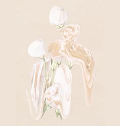 Rose flower sticker pastel white trippy vector