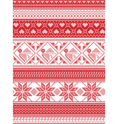 seamless nordic christmas pattern vector image