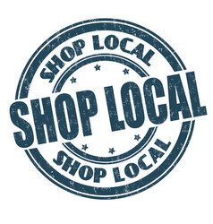 Shop local sign or stamp vector