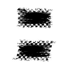 sport flags grunge brushes set vector image